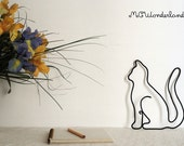 cat decoration modern rope art for cat lover cat silhouette gift idea cat collector collectible cat home decor made of wire and rope