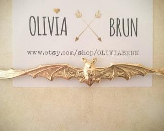 Large Bat Bobby Pin Gold Bat Hair Pin Animal Hair Clip Bat Hair Clip Halloween Hair Halloween Accessories Gothic Jewelry