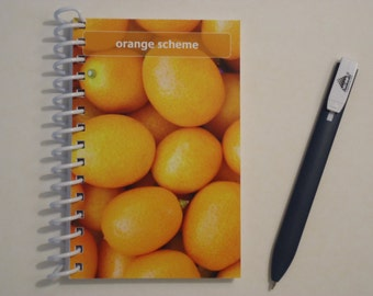 Orange Scheme Paint Chip Mini Notebook