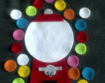 Bubble Gum Machine Felt Story Set // Flannel Board Story Set // Preschool // Teacher Story // Counting // Colors