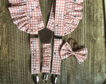 Girl's Suspenders and Matching Bow