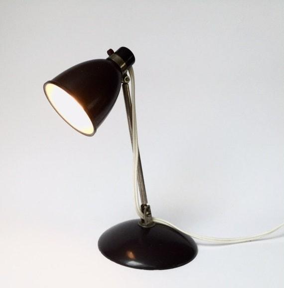 Wall Lamp For Desk : vintage desk or wall lamp dark brown adjustable Bauhaus Hala