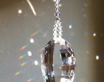 Crystal suncatcher, crystal wedding gift, window decoration, swarovski suncatcher, crystal sun catcher, housewarming gift, light catcher