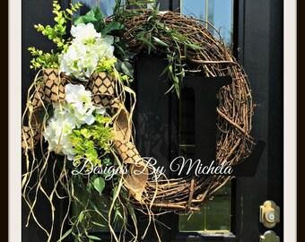 Vine Monogram L Wreath, BR150