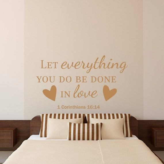 Wall Decor With Bible Verses : Bible verse quotes wall decal let everything you by