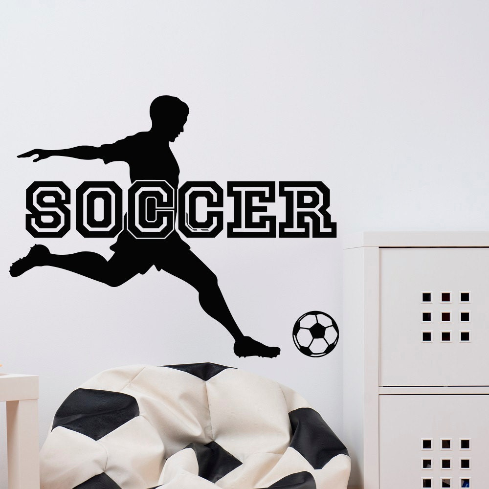 Soccer Wall Decal Sports Man Football Player Sport Gym Wall