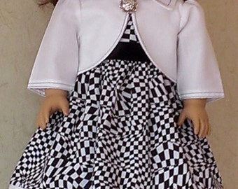 American Girl Clothes, 18 inch dolls, 2 piece outfit. Doll dress and jacket, free shipping,  a perfect gift