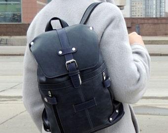 "Leather bag ""Blue Bird"""