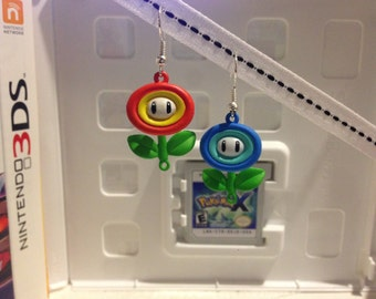 Nintendo Super Mario Fire and Ice Flower Earring