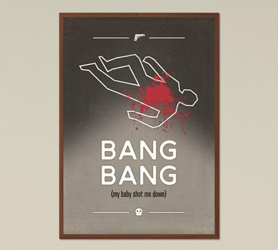 Bang Bang - Taupe; Music Inspired large Poster, Graphic Design ...