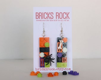 Halloween 2 x 6 LEGO® Plate Earrings - LEGO® Jewelry