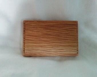 White Oak Wooden Belt Buckle