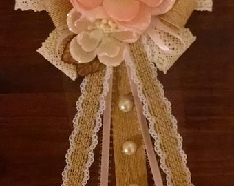 Large Shabby Chic Baby Shower Corsage/Mum