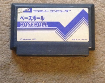Baseball for Famicom Game. Free Shipping! NES HVC-BA 8bit