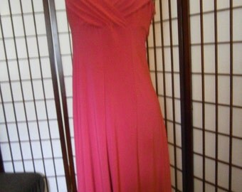 Women's Dress - Crimson Red-Stretchy