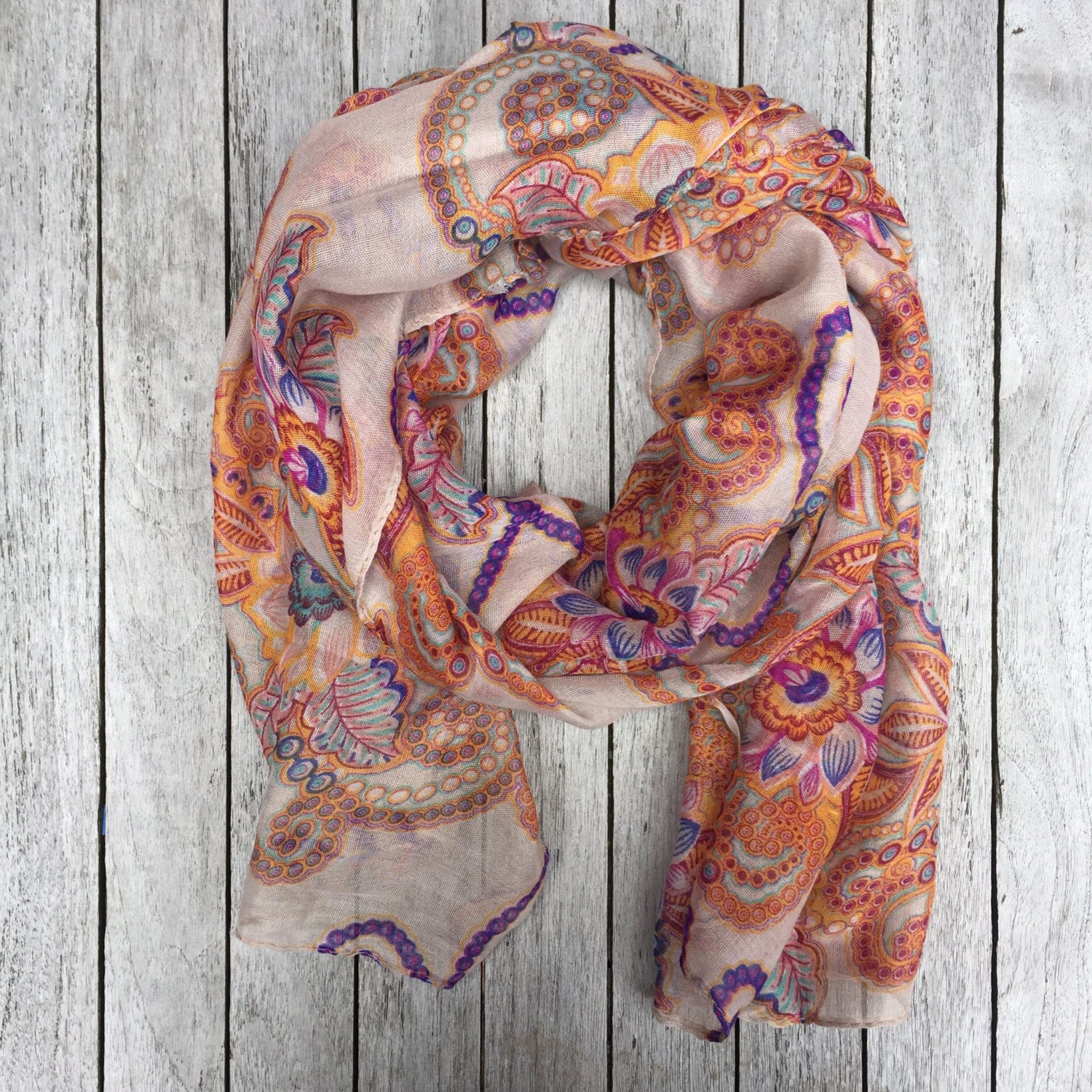 floral scarf fall colors scarf scarf oversized scarf