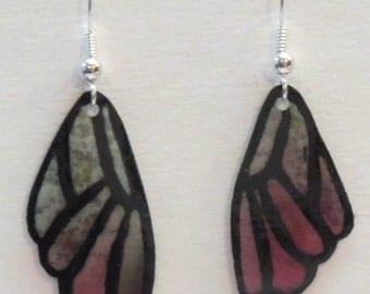 Silk Butterfly Wing Earrings #03