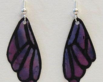 Silk Butterfly Wing Earrings