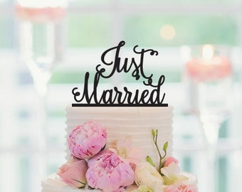 Just Married Wedding Cake Topper, 032