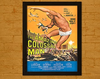 The Amazing Colossal Man 1957 - Vintage Movie Wall Decor Wall Art Kitsch Poster Old Movie Print Theater Decor Funny Poster