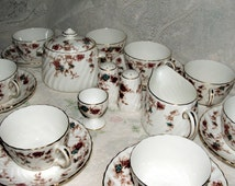 Great Price Fine China Minton Enameled English Porcelain Ancestral S376 Traditional 20 Piece Set Exquisite