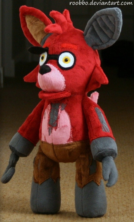 Five nights at freddy old foxy plush by roobbo on etsy