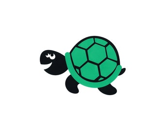 """FREE SHIPPING  10""""X7"""" layer paper Die Cut Out - TURTLE honu ocean animal party decor wall sign banner Cricut cutout scrapbook Finding Nemo"""
