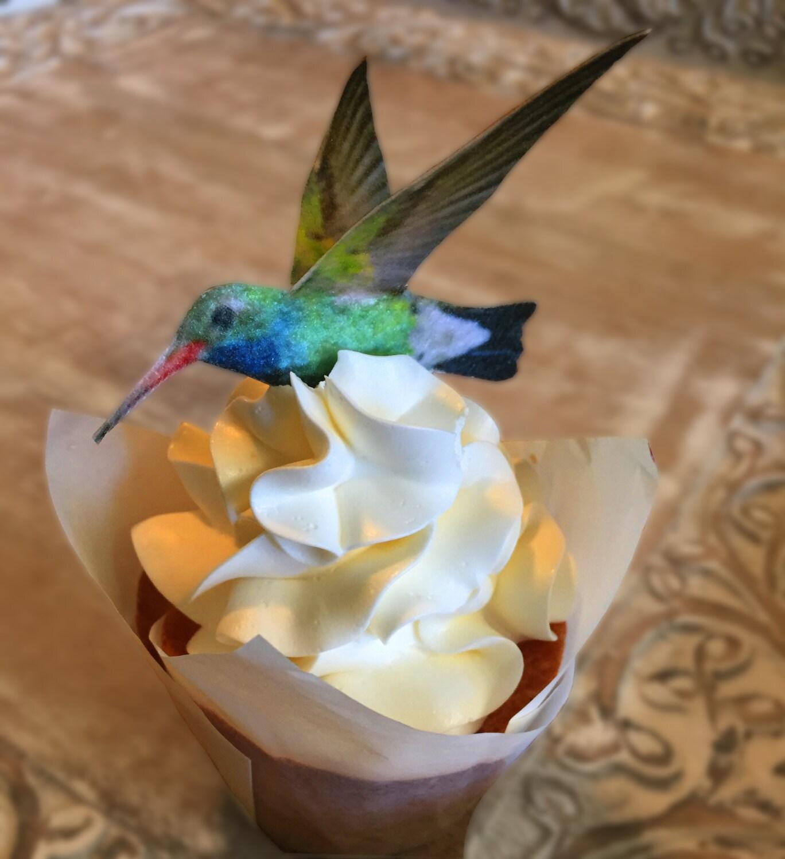 Edible Cake Decorations Hummingbirds 3-D Triple Sided