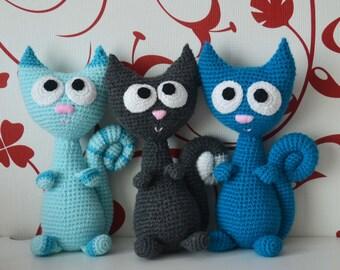 Philemon the Cat, crochet pattern PDF