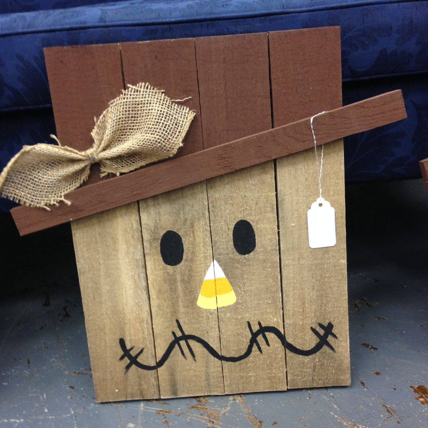 Hand Crafted Wood Pallet Scarecrow Wall Hanger Yard Post Fall