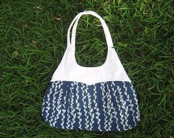 Natural Dyed Shoulder bag, Tote, Leisure, Cotton, Hobo, Messenger, Diaper Bag.