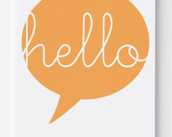Hello Speech Bubble Print / Wall Art