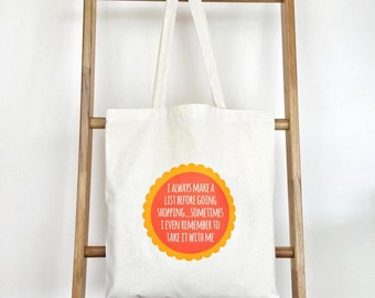 Shopping Lists Tote Bag