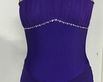 Purple figure skating dress - Adult xs