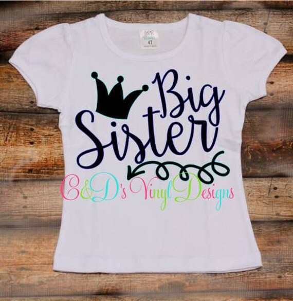 Big Sister Shirt Big Sister Crown Tee Girls By