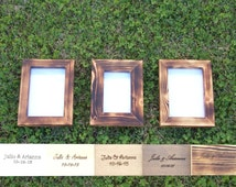 reclaimed wood picture frame set picture frame 5x7 picture frame 4x6 rustic picture frame shabby chic picture frame distressed wedding frame
