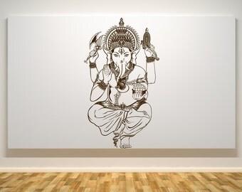 Lord Ganesh Wall Decal - Ganesh Hindu God - Car Decals - Wall Decals - Hindu God Decals - Religious Decals - Religious Stickers - Indian God