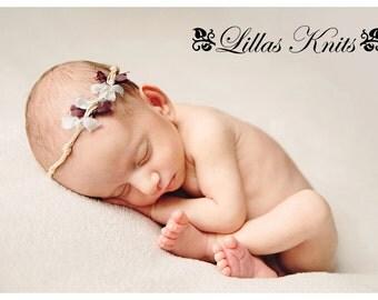 Newborn tieback  photography prop - newborn headband - newborn photo outfit