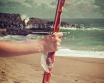 Spiritwalker  {  Phoenix  }  hiking stick
