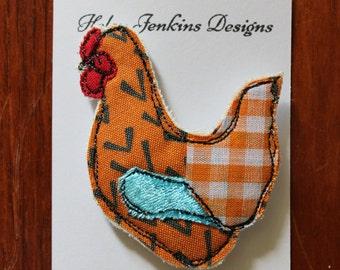 Chicken Brooch