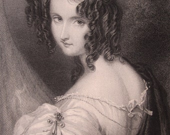 Portrait of a Woman, 1830s Engraving.