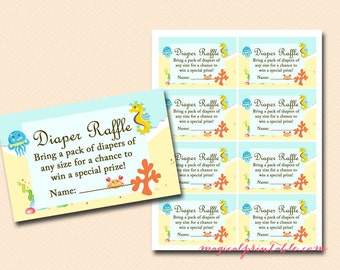 Diaper Raffle Ticket Diaper Raffle Card Diaper Raffle