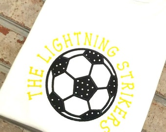 Embroidered Shirt | Soccer Shirt | Personalized Soccer Shirt | Fall shirt | Monogrammed Shirt  | Tshirt Boys Soccer | Sports Shirt | Girls