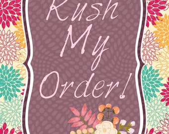 Upgrade my listing to rush order!! 1-3 day creation time