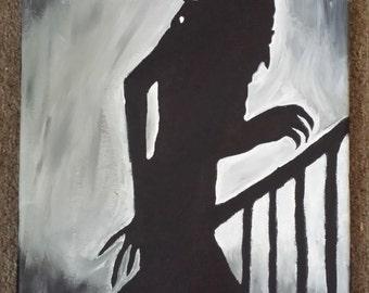 Nosferatu Silhouette Painting