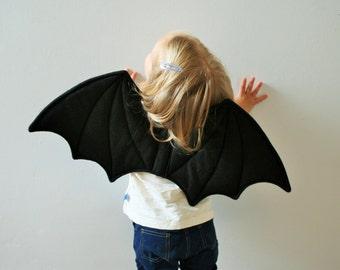 Children's Bat Wings, Fancy Dress, Dressing Up, Halloween, Gift, Children's Present, Black Felt, UK Handmade, Kids, Toddlers, Girls, Boys
