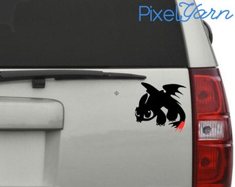 """Toothless the Dragon, 6"""" Vinyl Decal"""