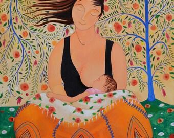 Motherhood. Art Print by Antonio Álvarez Gordillo. Wall Art. Home decor.