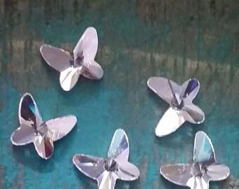 18 mm Swarovski Crystal Butterfly Flatback