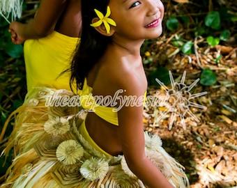 Tahitian dance rose child size costume